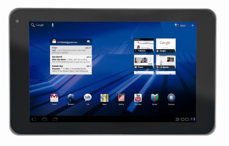 LG G-Slate, la tablet 3D