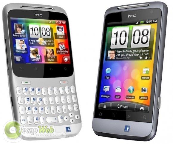 Dos nuevos smartphones de HTC dedicados a Facebook