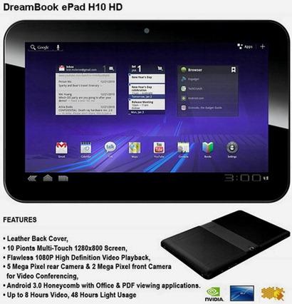 Pioneer DreamBook ePad H10 HD ya disponible en Austria