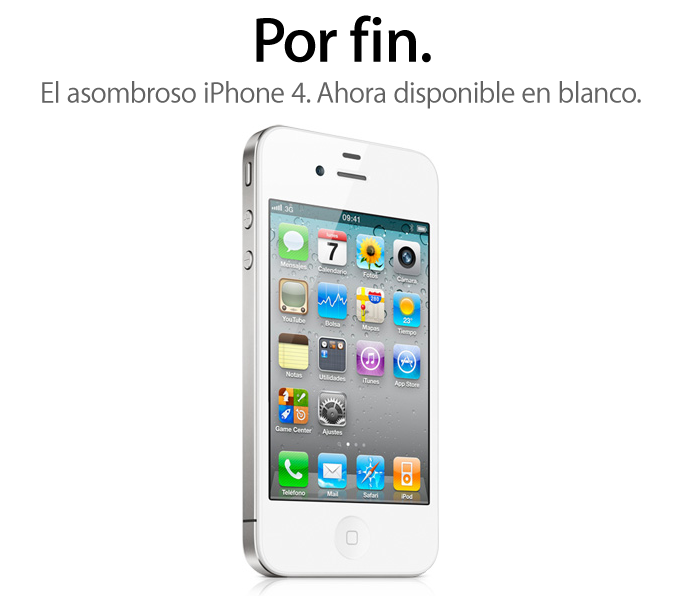 iPhone 4 Blanco, disponible desde hoy (por fin)