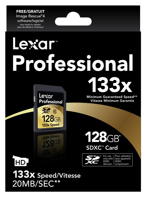 Lexar Media ofrece la primera SDXC de 120 GB