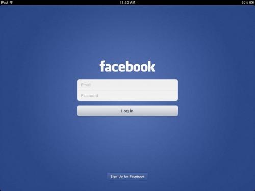 Facebook para iPad debutará en la presentación del iPhone 5