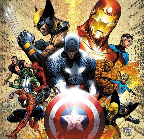 Aplicación de Marvel para Android