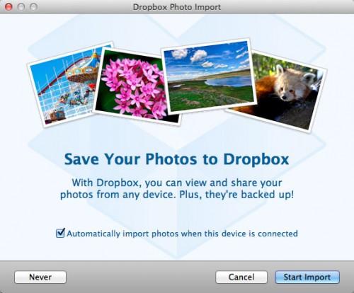 Dropbox añade sincronización automática desde cámaras de fotos
