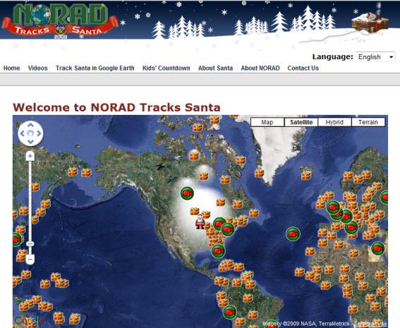 Norad Tracks Santa: sigue a Papá Noel desde tu smartphone