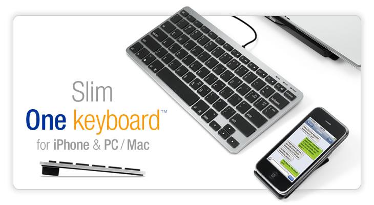 Matias Slim One Keyboard, teclado simultáneo para tu iPhone y el ordenador