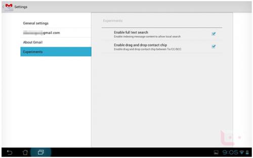 Gmail para Android 4.0.3 añade funciones experimentales