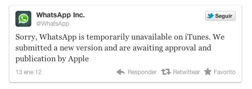 WhatsApp es retirada de la App Store