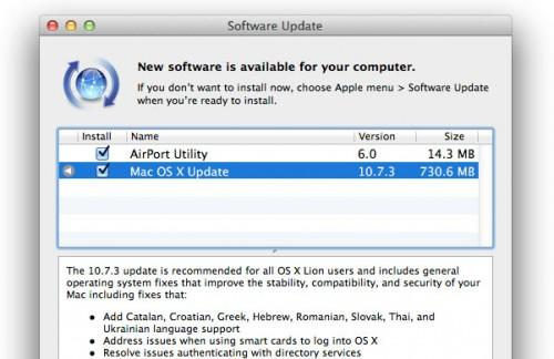 Mac OS X se actualiza a la versión 10.7.3
