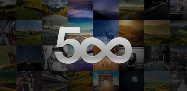 Aplicación de 500 px para Android