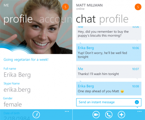 Skype para Windows Phone 1.0 ya se encuentra disponible