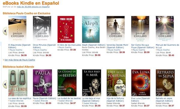 Los libros en español llegan a Kindle