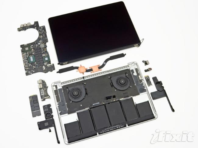 El Macbook Pro con Retina display es destripado por iFixit