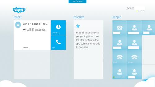 Así se ve la nueva app de Skype para Windows 8