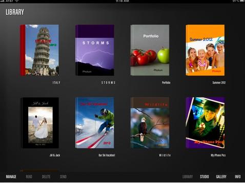 Pholium, crea fotolibros desde tu iPad