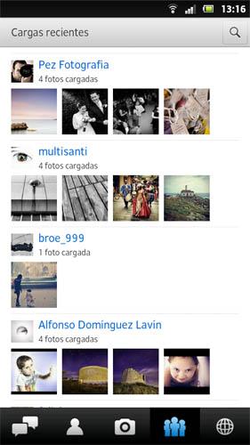 Nueva actualización de Flickr para Android