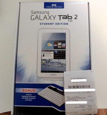 Samsung Galaxy Tab 2 7.0 Student Edition aparece en Best Buy