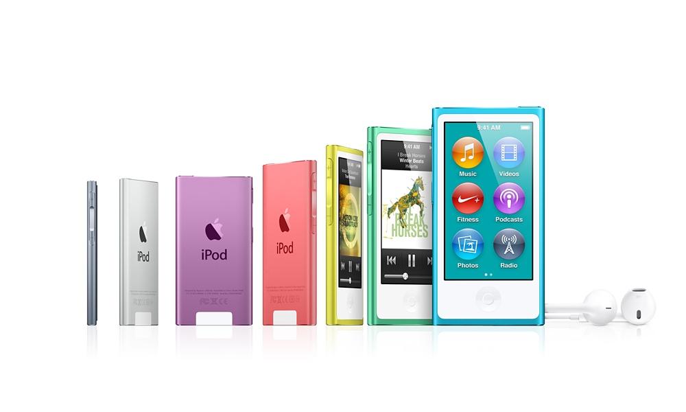 Nuevos iPod Nano, de nuevo rediseñados