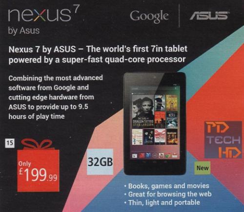 Nexus 7 de 32 GB estaría a la vuelta de la esquina