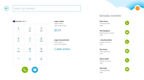 Microsoft presentó Skype para Windows 8