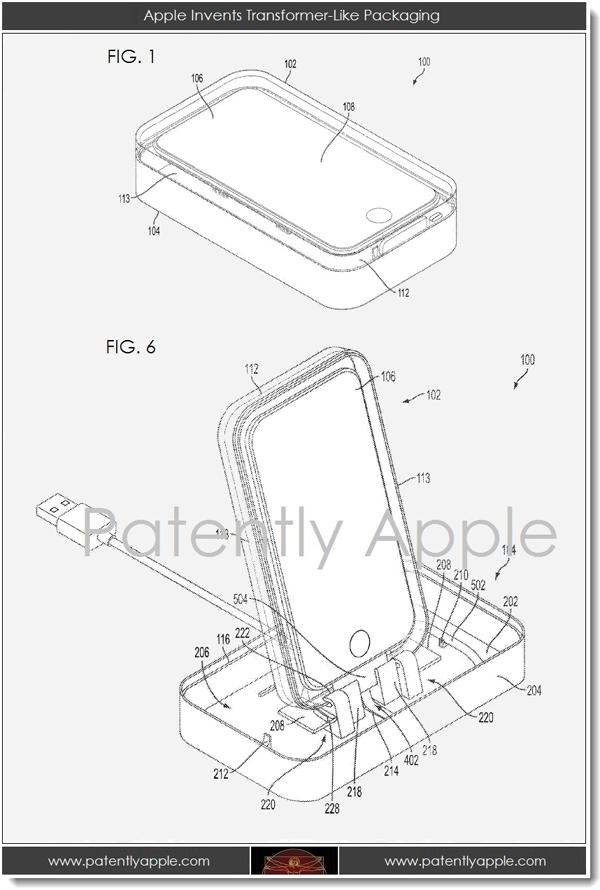 Apple patenta la caja – dock