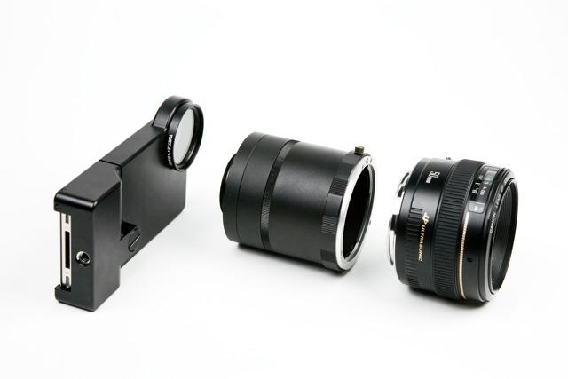 Conecta objetivos de Canon y Nikon a tu iPhone con esta funda-adaptador
