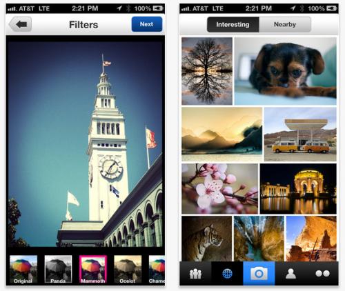 Flickr rediseñó su aplicación para iOS y añadió filtros fotográficos