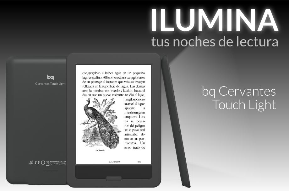 BQ Cervantes Touch Light, lector de libros electrónico con retroiluminación