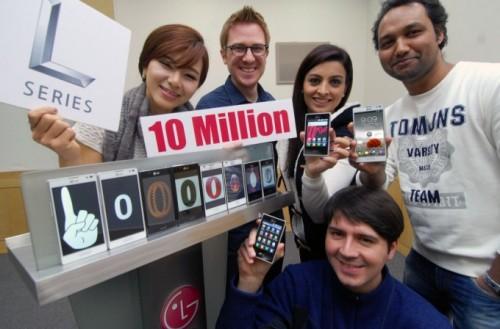 LG vende 10 millones de smartphones L-Series
