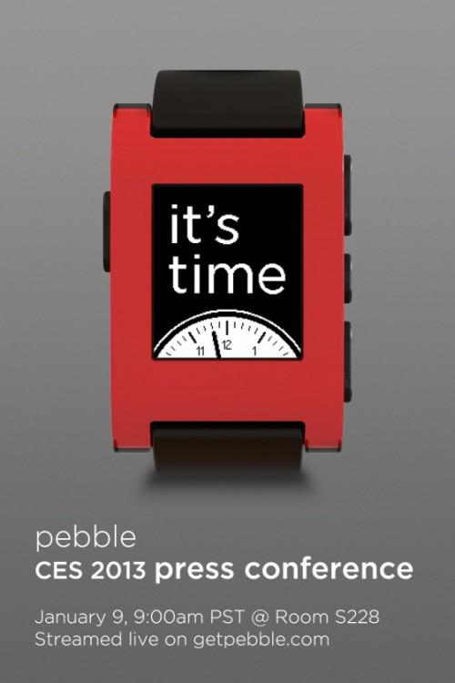 Pebble finalmente será presentado en CES 2013