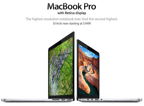 Nuevos precios para los MacBook Pro con pantalla Retina