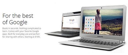 Google lanzaría Chromebooks con pantallas táctiles