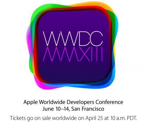 La WWDC 2013 se realizará del 10 al 14 de junio