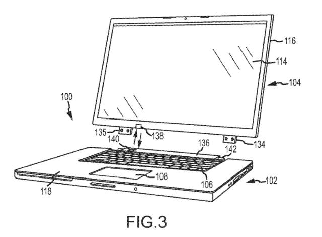 Apple patenta una pantalla inalámbrica para portátiles.