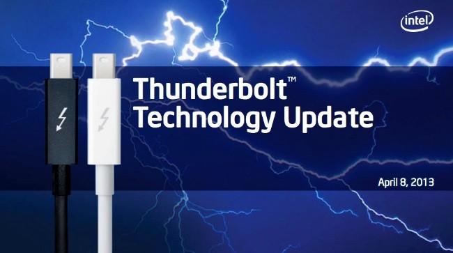 Intel mejora la especificación de la conexión Thunderbolt