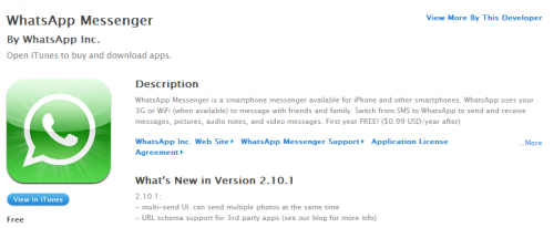 WhatsApp adopta el modelo freemium en iOS