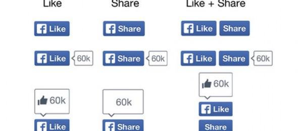 Facebook rediseña los botones Me Gusta y Compartir