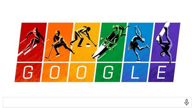 Doodle de Google apoya a los atletas gays en los Olímpicos de Sochi