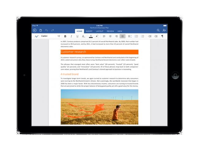 Office de Microsoft para iPad ya es una realidad.
