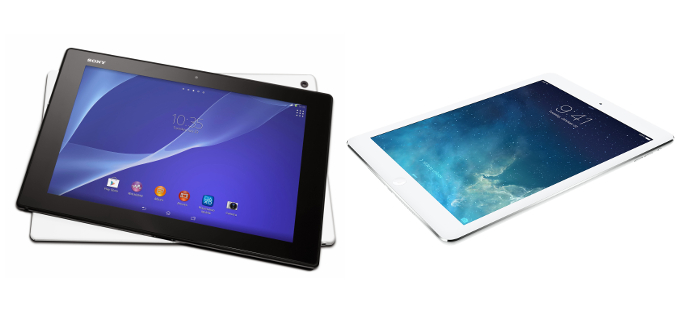 iPad Air vs Sony Xperia Z2: duelo de tablets de alto nivel