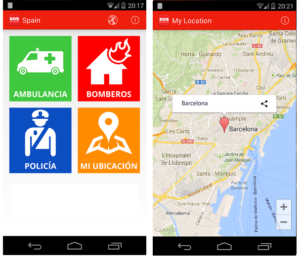 Help Me – SOS International:  una app para buscar servicios de emergencia