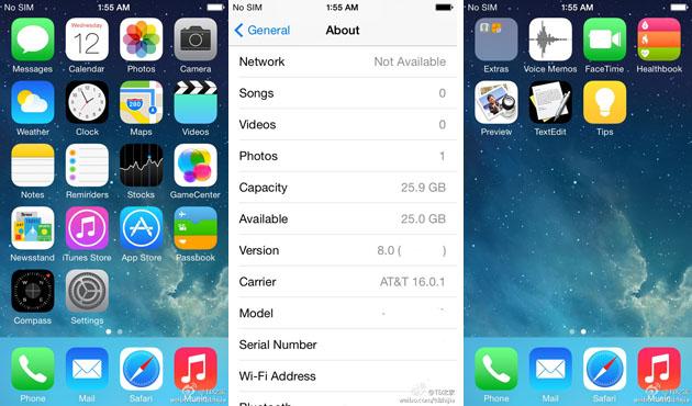 Se filtra una imagen de iOS 8 y viene con sorpresas.