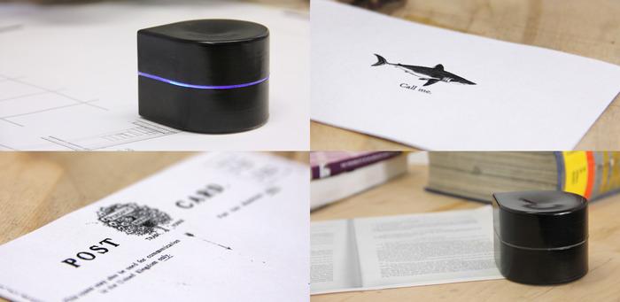 Zuta Pocket Printer, una impresora de bolsillo que imprime sobre el papel.