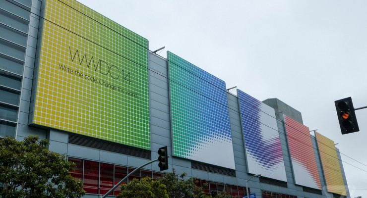 El Moscone Center se viste para la Apple WWDC 14