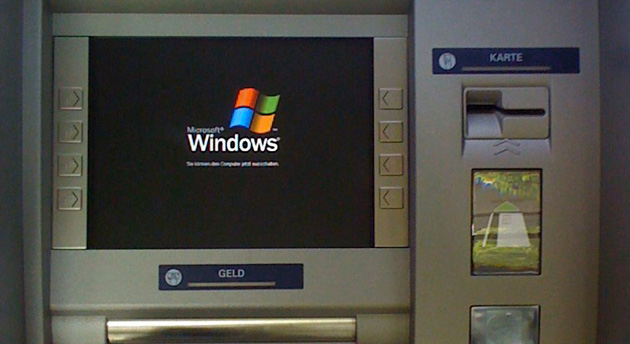 Windows XP sigue vivo en los cajeros automáticos