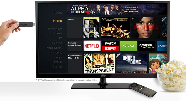 Amazon Fire TV Stick se lanza para competir con Google Chromecast