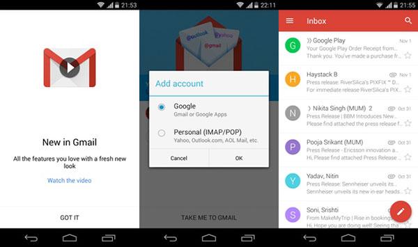 Tres novedades de Gmail para Android que debes conocer