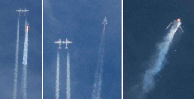Los turistas espaciales tendrán que esperar, explota la SpaceShipTwo en un vuelo de prueba